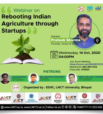 Webinar on Agriculture through startup